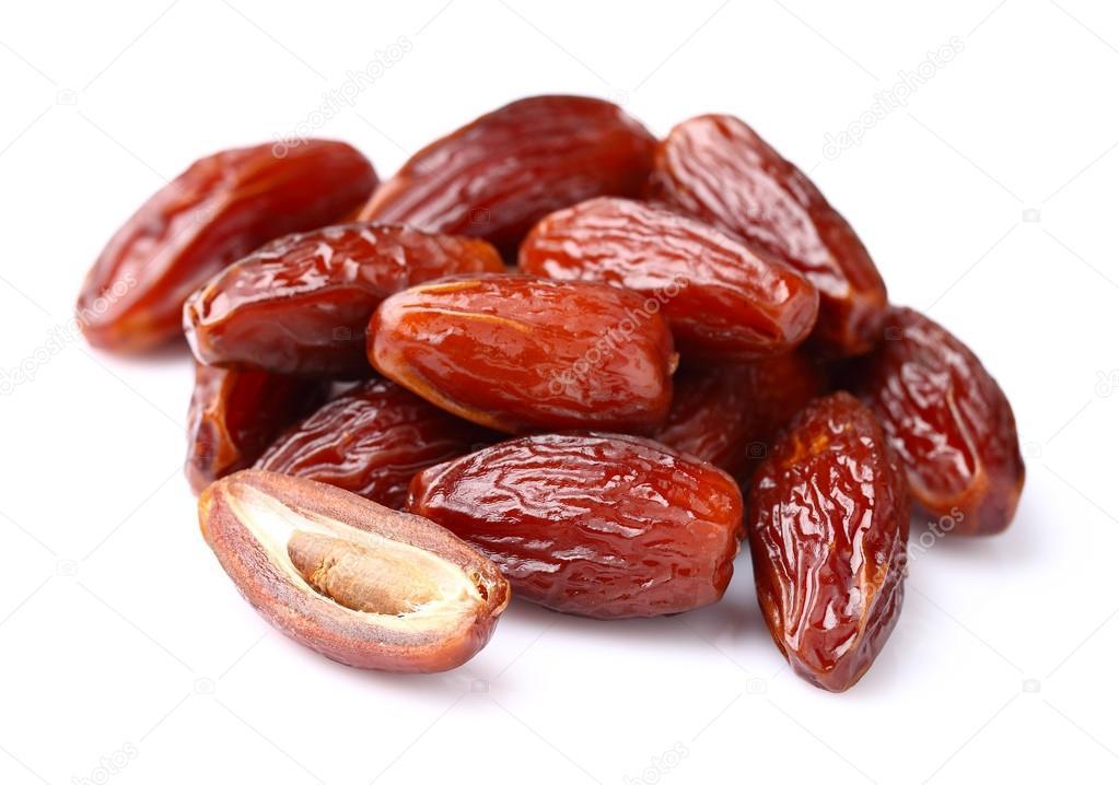 Dried dates in closeup