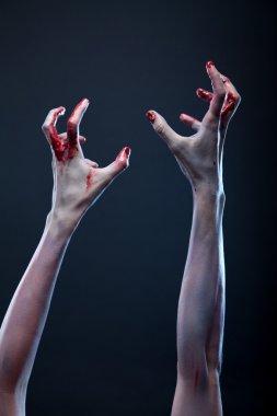 Bloody zombie hands