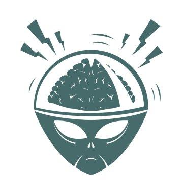 Vector illustration of mega brain