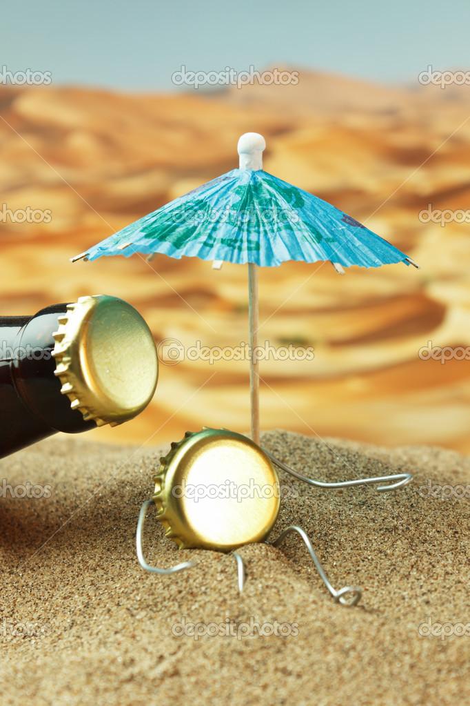śmieszne Korek Na Plaży Zdjęcie Stockowe Observer 13355797