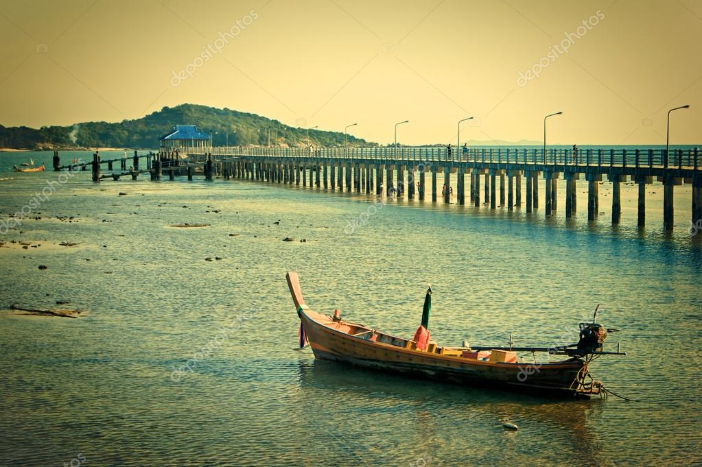 national fishing boats on the shore of the Indian Ocean phuket t
