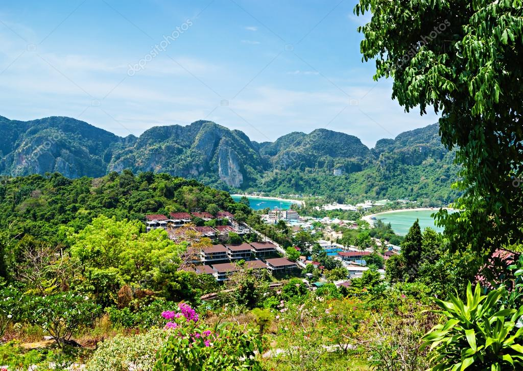 View of the island Phi Phi Don from the viewing point,Thailand