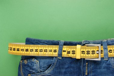 Jeans with meter belt