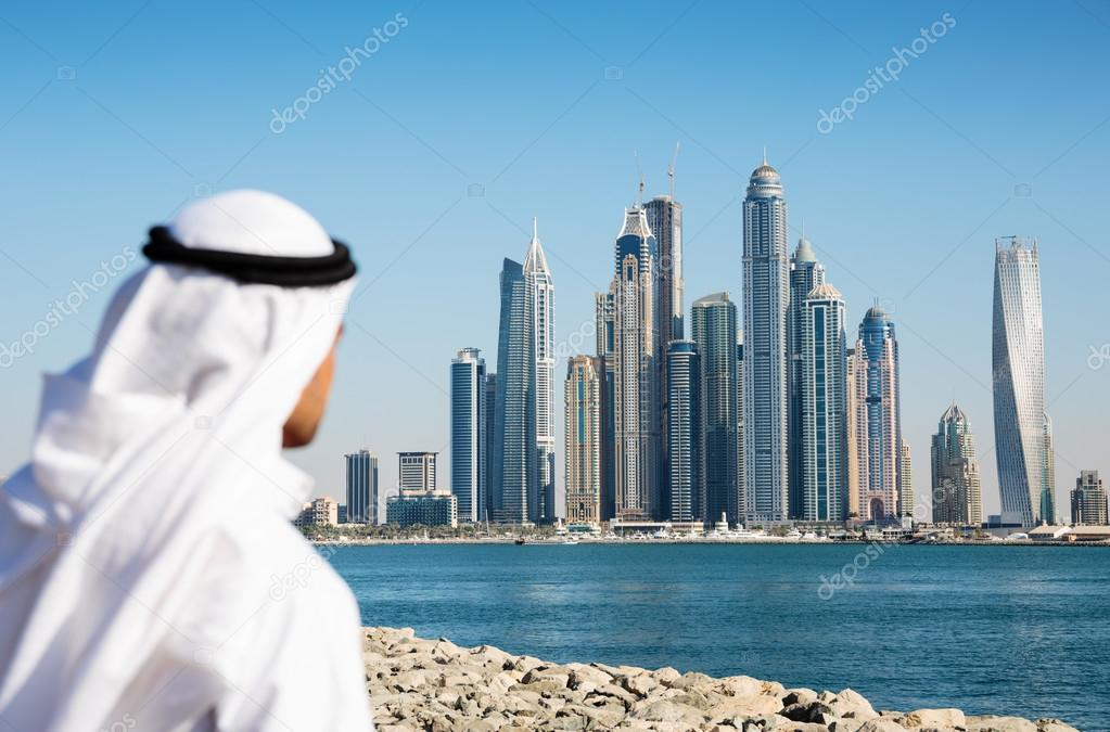 Modern buildings in Dubai Marina UAE