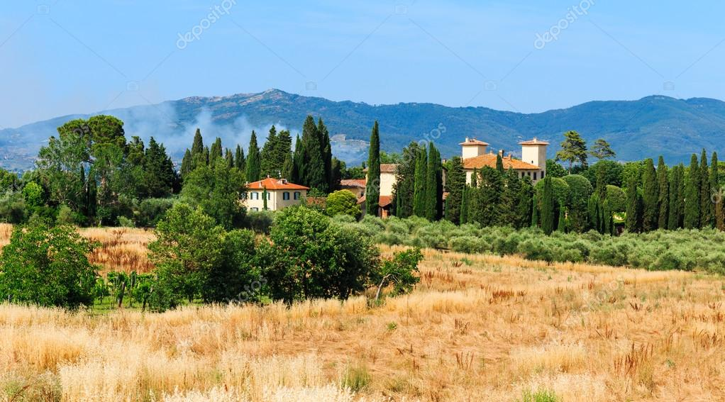 Old typical Tuscan farmhouse