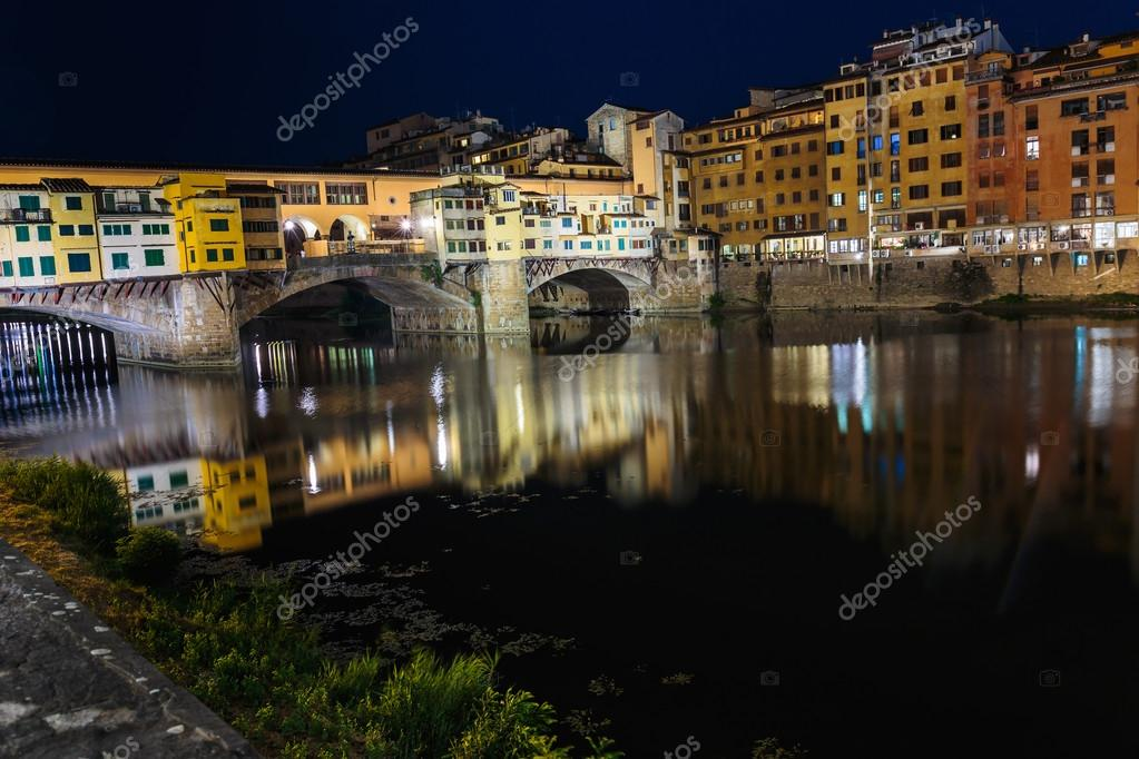 Ponte Vecchio in Florence at night