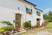 Fotografie typische toskanische Bauernhaus in Italien