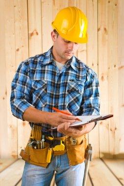 worker write on clipboard