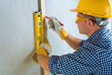 A contractor do layring stock vector