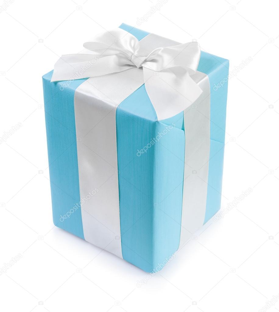 Classical blue gift box