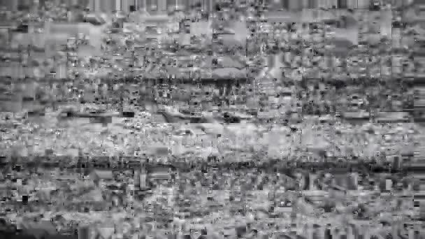 1920 x 1080 Hidef, Hdv - Lärm auf dem tv-Bildschirm schwarz und weiß