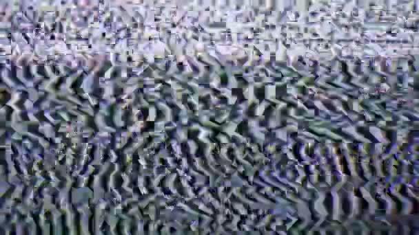 1920 x 1080 video - jel és zaj a Tv-képernyőn