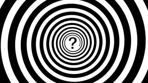 1920 x 1080 video - hypnotický spirála a otazník