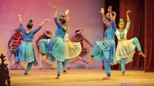 KANDY, SRI LANKA - APR 16: Female dancers perform traditional Kandyan dance on Apr 16, 2013 in Kandy, Sri Lanka. Kandyan dance highlights Sri Lankas culture.