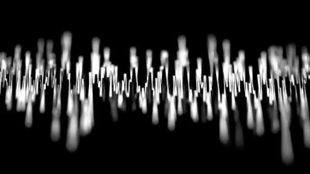 loopable hidef video 1920 x 1080 - akustické vlny na obrazovce laboratorní zařízení detail