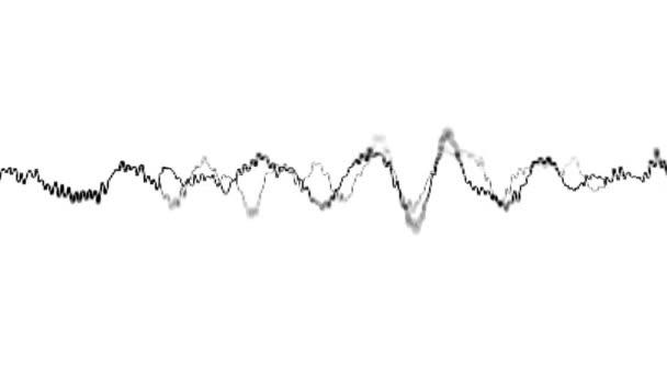 Loopable video 1920 x 1080 - grafikus bemutatás-ból hang hullámok az elektronikus képernyőn