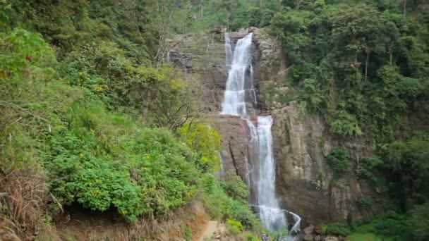 Video 1920x1080 - Tropical waterfall in Sri Lanka, Nuwara Eliya, Ramboda