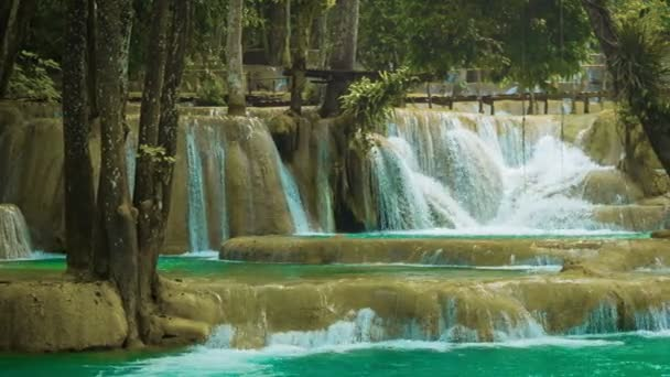 videóinak 1920 x 1080 - erdő kouang si vízesés, laos, luang prabang