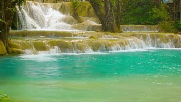 videóinak 1920 x 1080 - szépség kouang si vízesés, laos, luang prabang