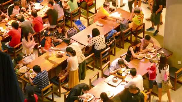 SINGAPORE - CIRCA DEC 2013: Dining Room in Marina Bay Sands complex