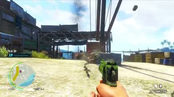 PHUKET, THAILAND - CIRCA JUL 2014: Episode of gameplay of computer game Far Cry 3 - one of the most popular games of the year