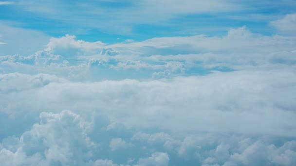 Video FullHD - Clouds in the sky - view through glass of aircraft window