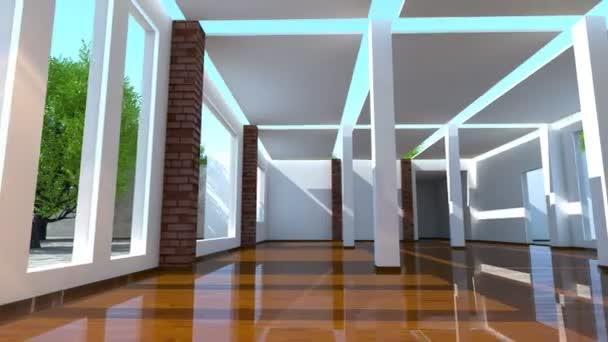 stavební činnost moderního interiéru