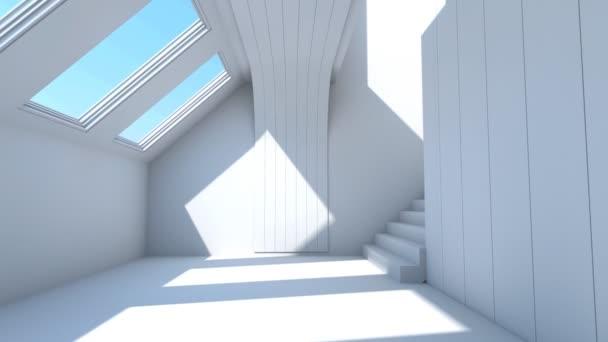 letu do interiéru a schody