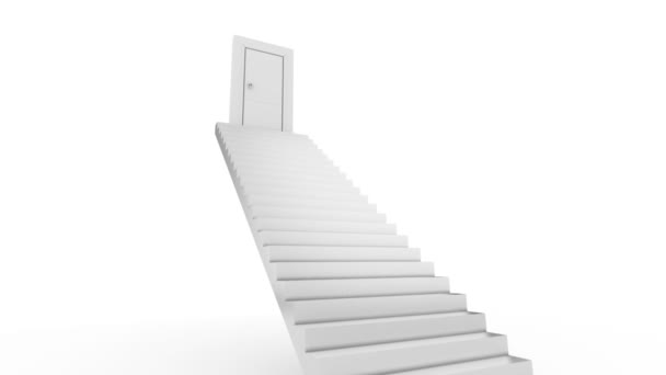 dveře v horní části schodiště. otevřít aktivitu