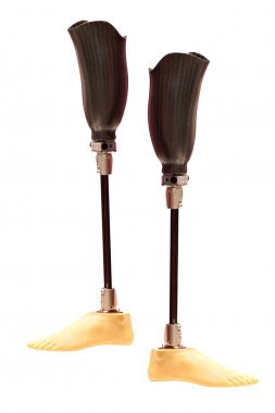 Artificial limbs under the white background