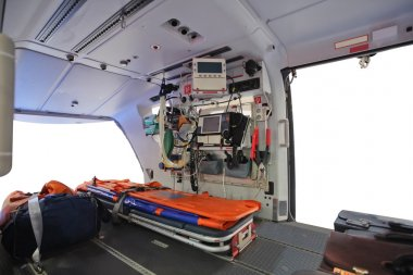 an empty ambulance helicopter