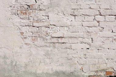 Vintage white background brickwall