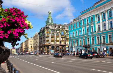 Nevsky Prospect in St.Petersburg, Russia.