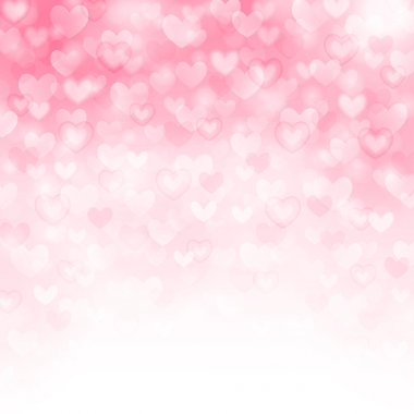 Vector background with beautiful pink hearts stock vector