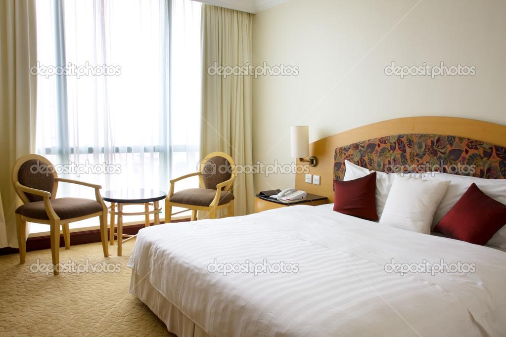 Slaapkamer Als Hotelkamer : Massief hout grenen hotel dubbele bed hotelkamer indoor slaapkamer