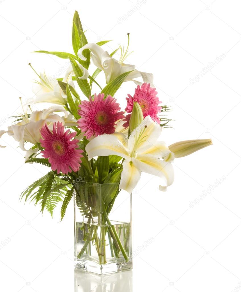 Bunch Of Lilies And Gerberas Stock Photo Antonel 41306939