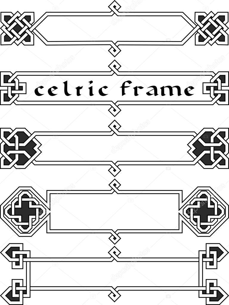 conjunto marco celta — Vector de stock © nikolaich #34259175