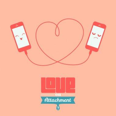 Love or attachment illustration clip art vector
