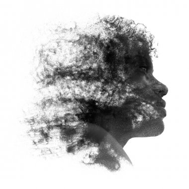 Artistic portrait of a young African woman