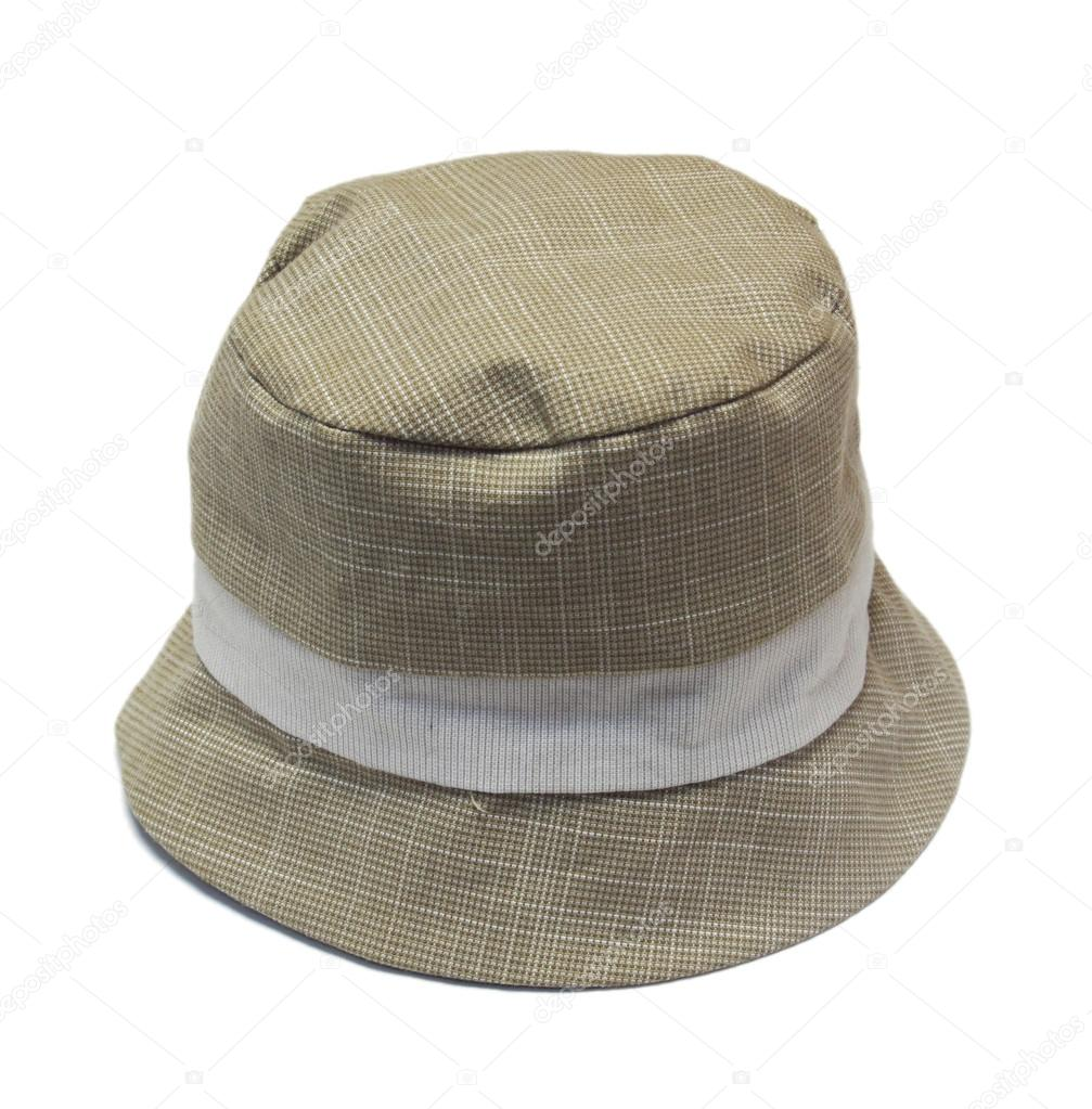 chapéu de Panamá de bebê bege em fundo branco — Fotografias de Stock ... b77aa48e7bc