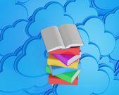 Fotografie Stapel von mehrfarbigen Bücher