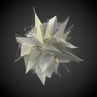 Abstract yellow modern triangular shape