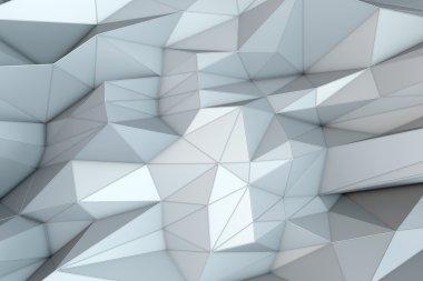 Abstract triangular crystalline background