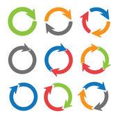 šipka kruhy