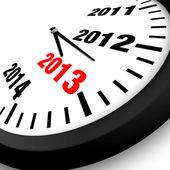 2013 koncept novoroční hodiny