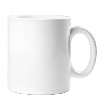 White mug empty blank for coffee or tea