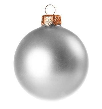 Silver dull christmas ball