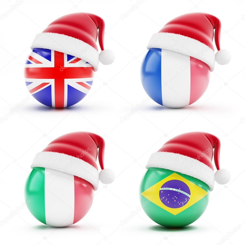 Christmas in England,Italy,Brazil,France — Stock Photo © 3dfoto ...