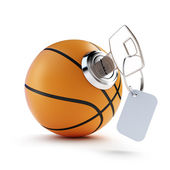 key basketball ball on a white background