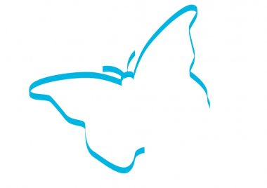 Silhouette of butterfly